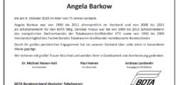 Nachruf Angela Barkow